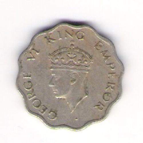 British India anna coin of 1947