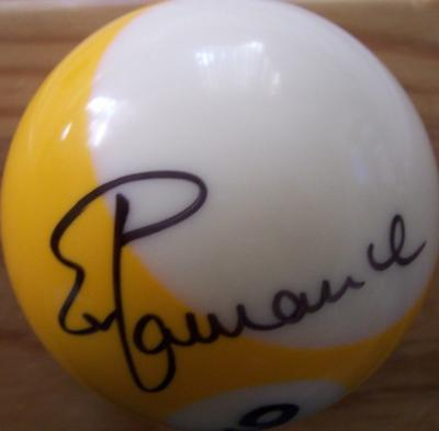 Ewa Mataya Laurance autographed billiards ball