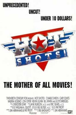 Hot Shots double sided full size 27x40 movie poster