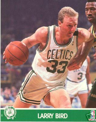 Larry Bird Celtics 1990 NBA Hoops 8x10 photo