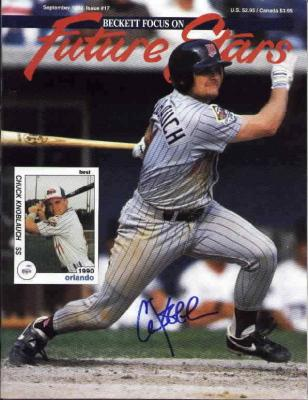 Chuck Knoblauch autographed Minnesota Twins Beckett Future Stars magazine cover