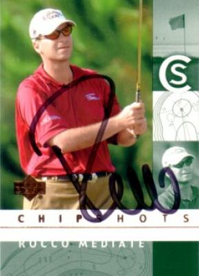 Rocco Mediate autographed 2002 Upper Deck golf card