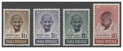 India 1948 Independence Mahatma Gandhi Set Reprint