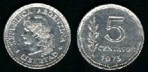 5 Centavos 1970-1975 (km); LIBERTAD LAUREL                    65)