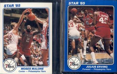 1985 Star Philadelphia 76ers 5x7 10 card set (Charles Barkley Julius Erving Moses Malone)