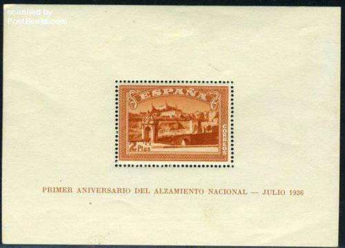 Toledo s/s; Year Issue: 1937; Spain stamp