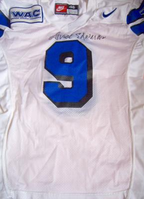 Lavell Edwards autographed BYU game used worn Nike jersey