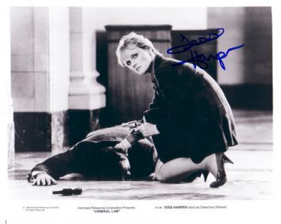 Tess Harper autographed 8x10 Criminal Law photo