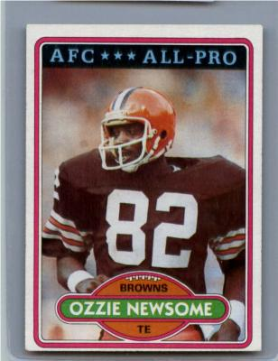 Ozzie Newsome Browns 1980 Topps card #110