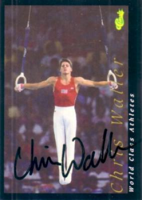 Chris Waller (gymnastics) autographed 1992 Classic World Class Athletes card