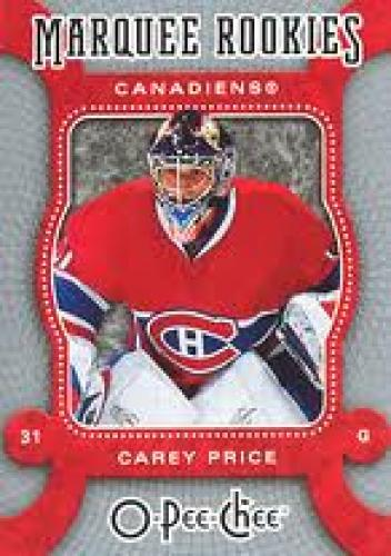 CAREY PRICE hockey cards;Canadiens; Guard