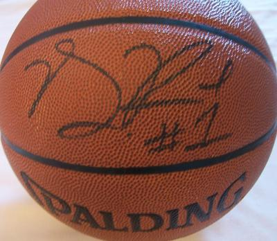 Derrick Rose autographed NBA basketball