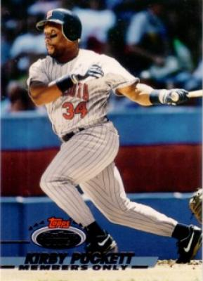 Kirby Puckett 1993 Stadium Club Members Only card