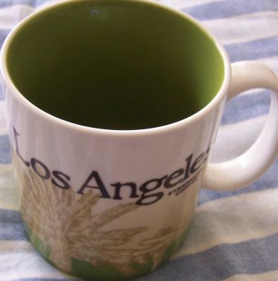 2009 Starbucks huge Los Angeles collector series 16 ounce coffee mug NEW