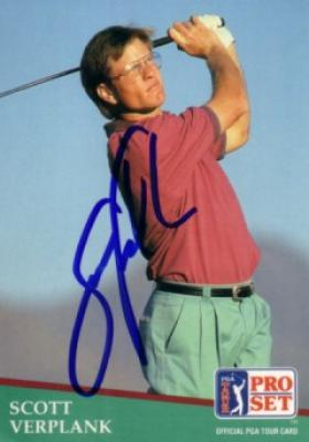 Scott Verplank autographed 1991 Pro Set golf card