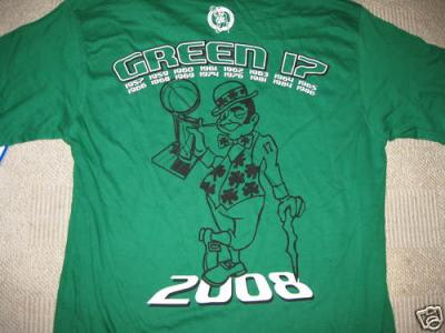 Boston Celtics 2008 Green 17 Championships T-shirt XXL NEW