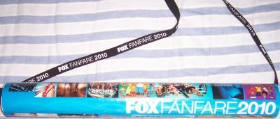 FOX 2010 Comic-Con poster tube Bones Fringe Futurama Glee Simpsons