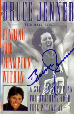 Bruce Jenner autographed Finding the Champion Within softcover book