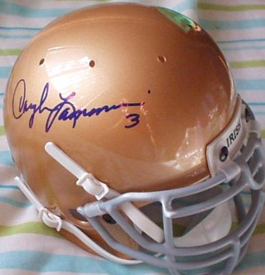 Daryle Lamonica autographed Notre Dame mini helmet