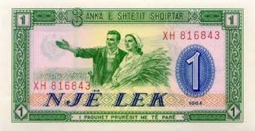 Banknotes; 1 Lek; Year:Issue 1964; Albanian notes