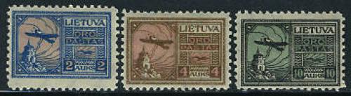 Airmail definitives 3v; Year: 1922