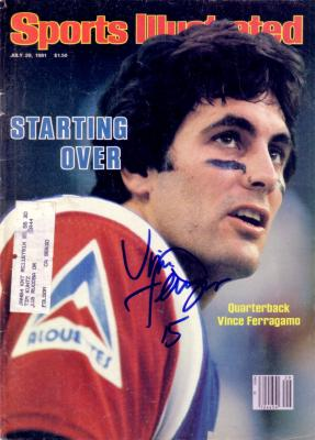 Vince Ferragamo autographed 1981 Sports Illustrated