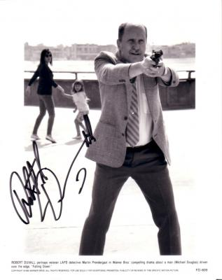 Robert Duvall autographed 8x10 Falling Down photo