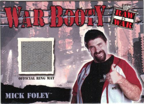 2001 fleer mick foley war booty