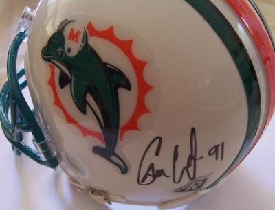 Cameron Wake autographed Miami Dolphins mini helmet