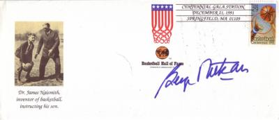 George Mikan autographed 1991 Basketball Hall of Fame cachet