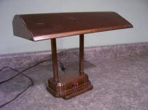 Antique Bronze Desk Lamp 1940's-1950's