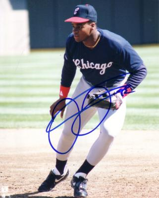 Frank Thomas autographed Chicago White Sox 1990 rookie 8x10 photo