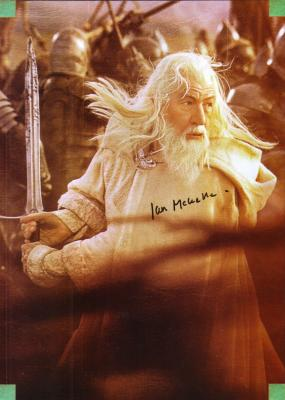 Ian McKellen autographed Lord of the Rings Gandalf full page magazine photo