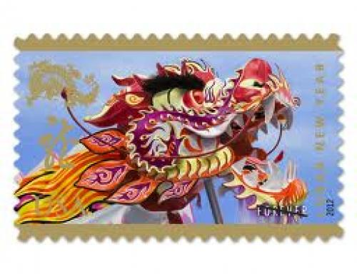 Stamps; This is the USA stamp for the Lunar New Year