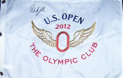 Phil Mickelson autographed 2012 U.S. Open embroidered flag