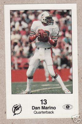 Dan Marino Miami Dolphins 1985 Police card
