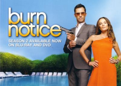 Burn Notice 2009 Comic-Con Fox 5x7 promo card