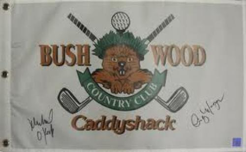 Memorabilia; Cindy Morgan And Michael OKeefe Dual Autographed Caddyshack Bushwood Golf