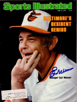 Earl Weaver autographed Baltimore Orioles 1979 Sports Illustrated