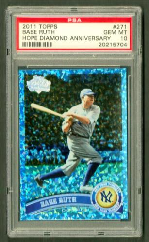 2011 Topps BABE RUTH #271 HOPE DIAMOND 15/60 PSA GEM MINT 10 POP 1 
