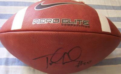 Jake Locker (Washington) autographed Nike Aero Elite leather football