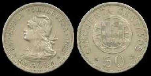 50 centavos; Year: 1927-1928 (km 69)
