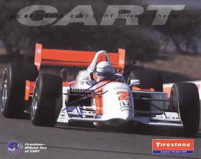 Gil de Ferran autographed 8x10 photo card