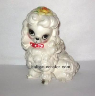 Josef Originals White Poodle Dog Animal Figurine