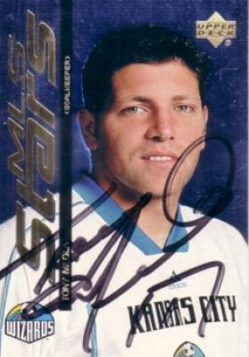 Tony Meola autographed 1999 MLS Kansas City Wizards card