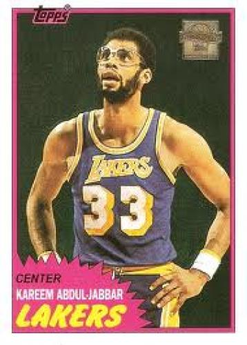 Basketball Card; Kareem Abdul Jabbar L.A Lakers Center #33
