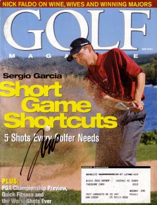 Sergio Garcia autographed 2003 Golf Magazine