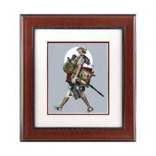Antique Hunter (Woman Laden with Antiques) Framed Giclee