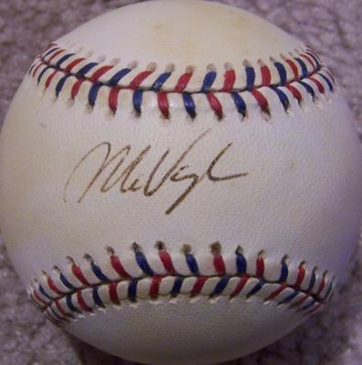 Mo Vaughn autographed 1995 All-Star Game baseball