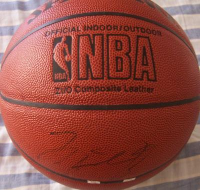 Michael Jordan autographed Spalding NBA basketball (light signature)